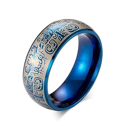 Titanringe schwarz blau
