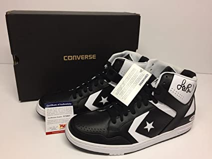fa3adcb26f1e Image Unavailable. Image not available for. Color  Larry Bird Signed Black White  Converse Weapons Shoes  Boston Celtics X72007 - PSA
