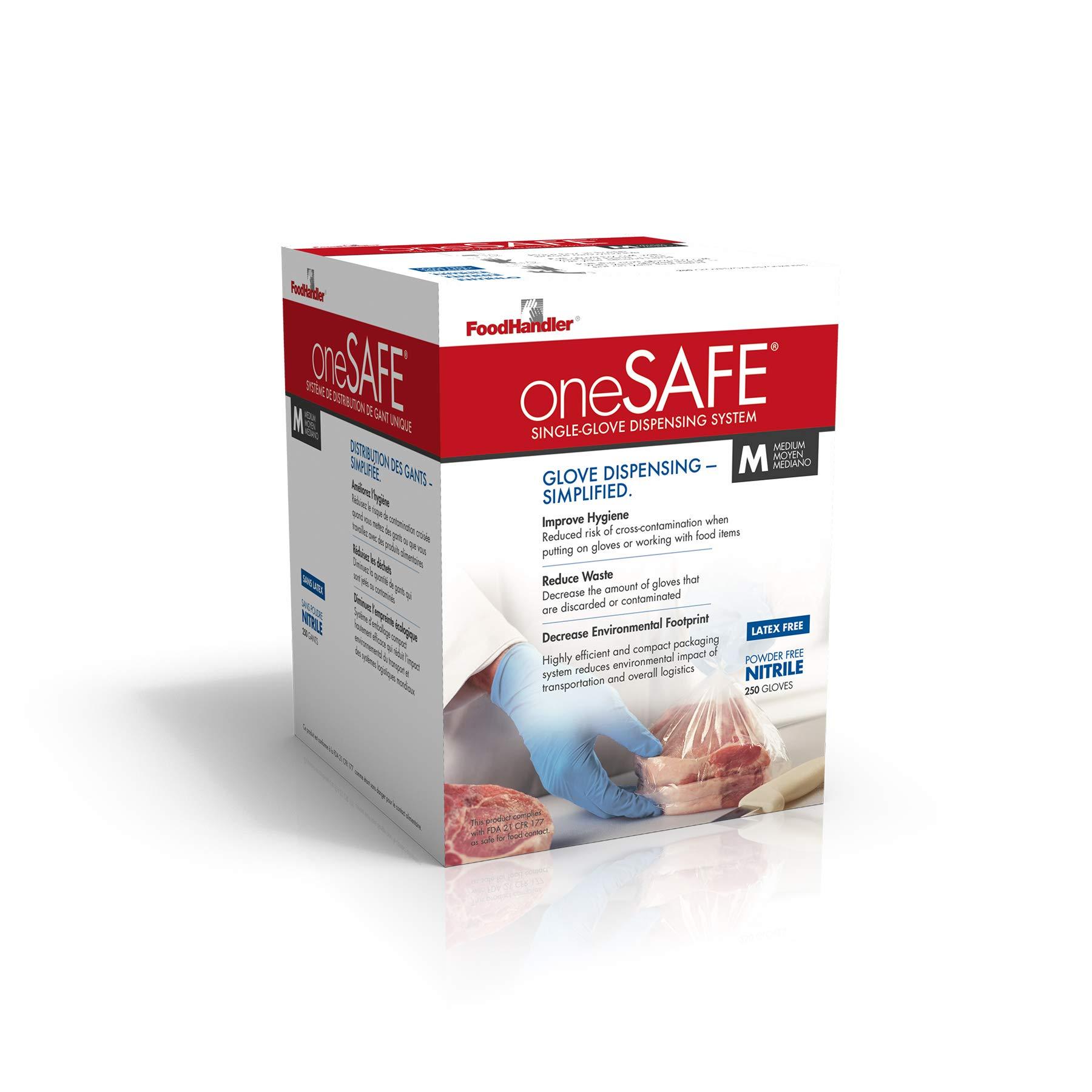 oneSAFE 103-1SF-214 oneSAFE Blue Nitrile MD Light Blue (Pack of 1000)