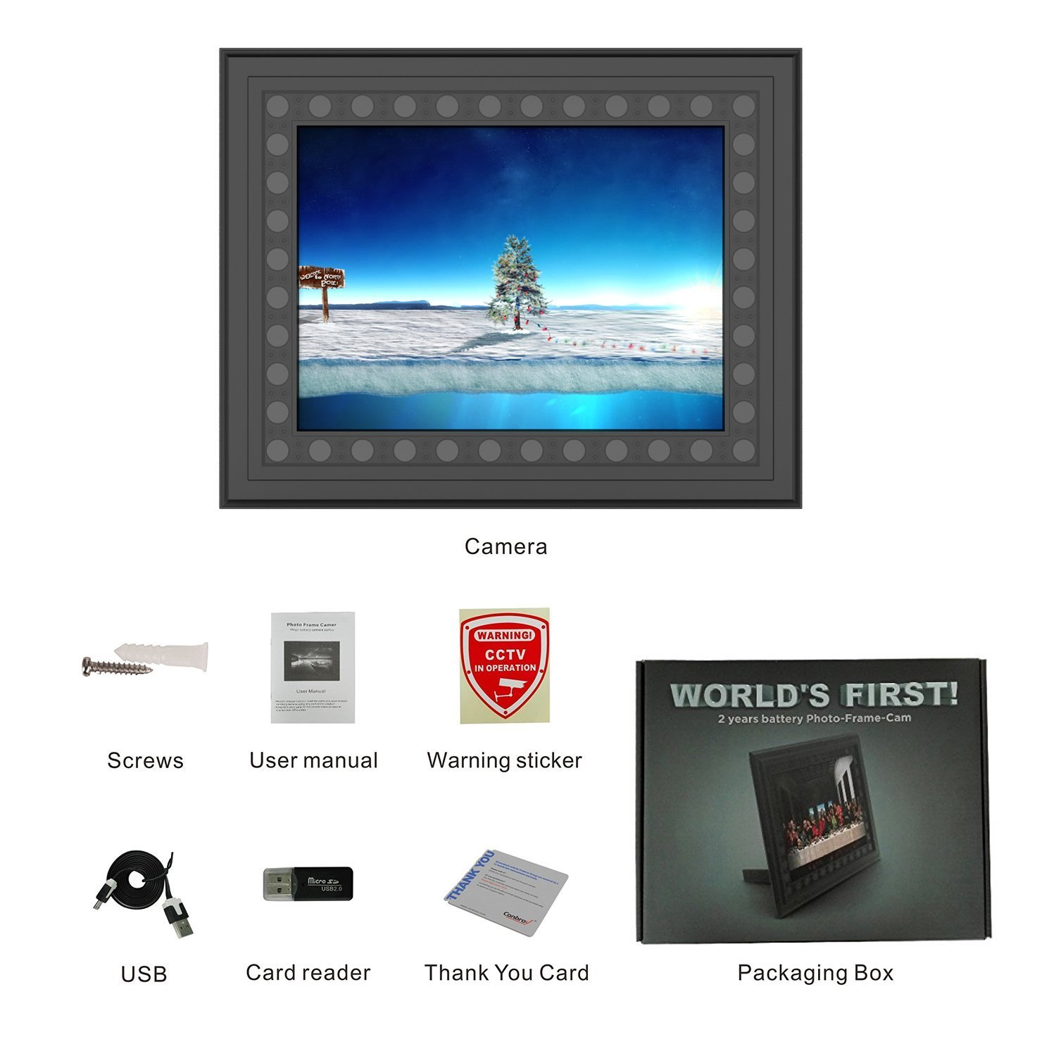 Hidden Spy Camera Photo Frame,Portocam Picture Frame Nanny Cam with Night Vision PIR Motion Activated Video Recorder Covert DVR with 2 Year Long Standby time by PORTOCAM (Image #7)