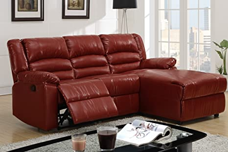 Amazing Amazon Com Poundex Bobkona Bonded Leather Loveseat Recliner Inzonedesignstudio Interior Chair Design Inzonedesignstudiocom