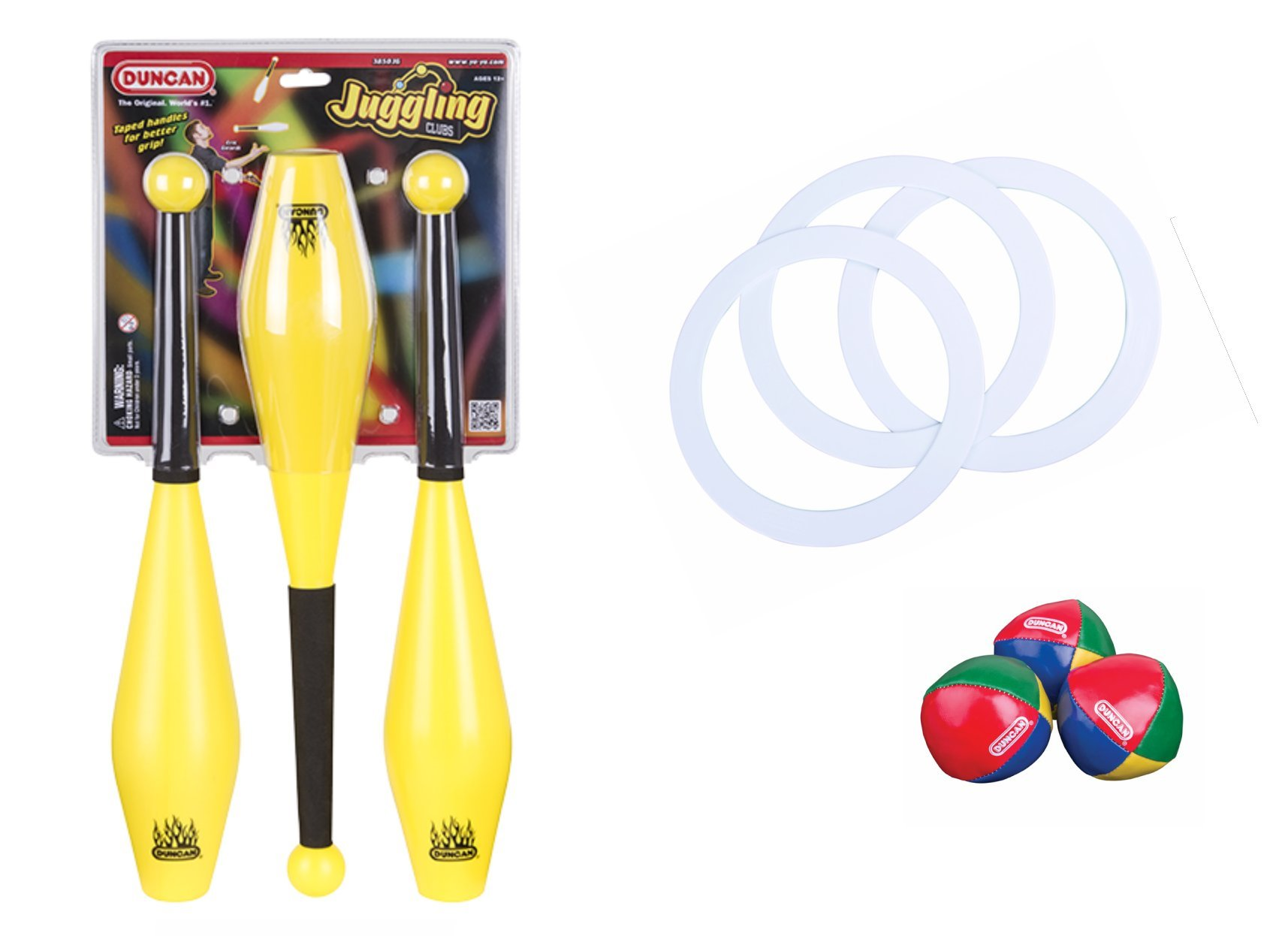 Duncan Juggling Set: Juggling Clubs, Juggling Rings, and Juggling Balls by Duncan