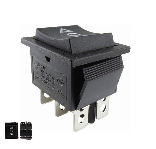 Interruptor basculante; pulsador ON/OFF/ON, abertura empotrada de ...
