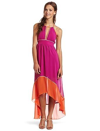 d7de5a5b099 XOXO Juniors Colorblock High Low Maxi Dress