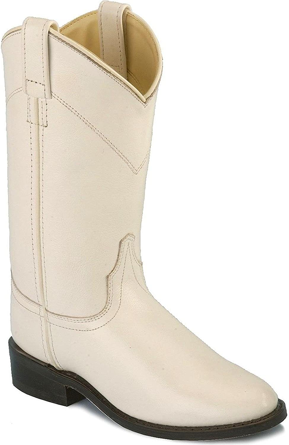 Roper Boots Old West Ladies Leather Cowgirl White