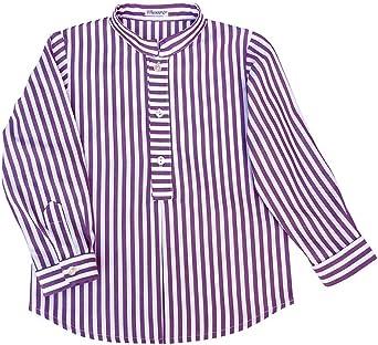 ANCAR - Camisa de Rayas Blancas y Burdeos para niño. Talla 6 ...