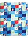 Mee Mee Double Layer Reversible Soft Baby Blanket (Light Blue - Boat Print)