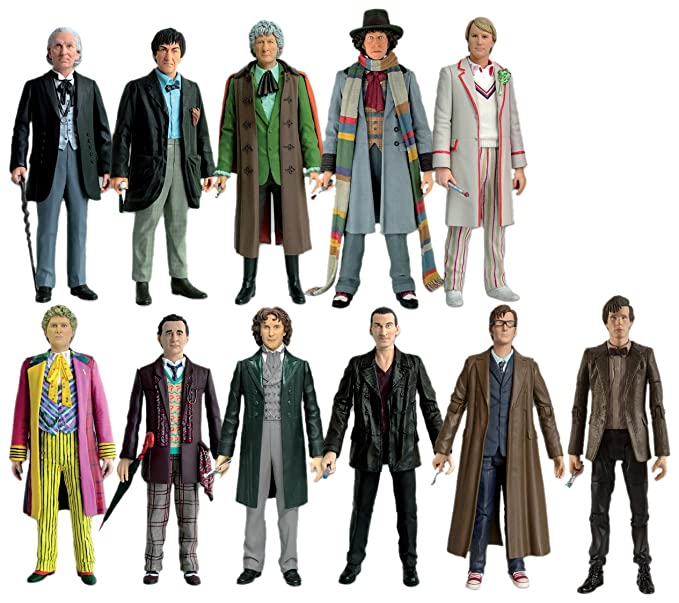 38736bdd91 Doctor Who 11 Doctors Action Figure Collector Set  Amazon.co.uk  Toys    Games