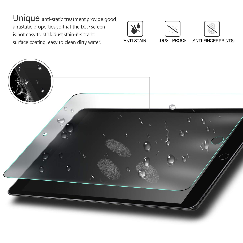 Premium Cristal de Pantalla de Vidrio Templado para Apple iPad 10.2 2019 2 Pack IVSO Templado Protector para iPad 10.2 2019