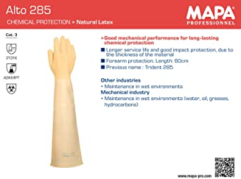 confezione da 2 beige /10/guanti Mapa Professional Trident 285/