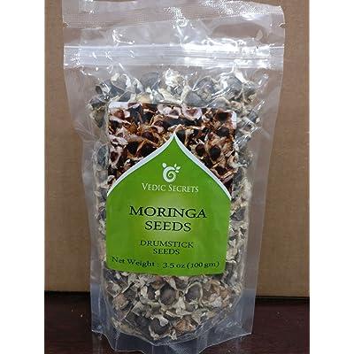 Vedic Secrets - Moringa Oleifera Seeds 100g : Garden & Outdoor