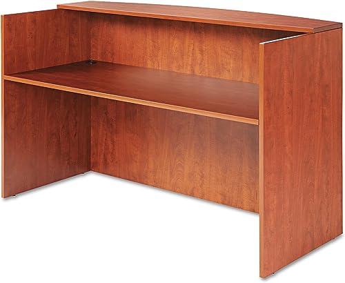 Alera ALE Valencia Series Reception Desk w Counter, 71w x 35 1 2d x 42 1 2h, Cherry