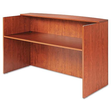 Amazon.com: Alera Valencia Series Reception Desk/Counter ...