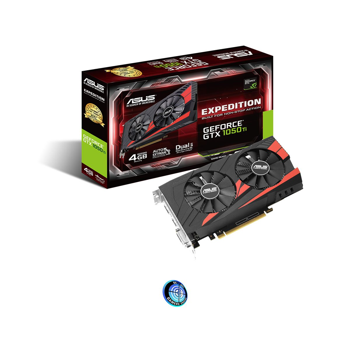 ASUS GTX1050Ti-4G - Tarjeta gráfica (NVIDIA GPU Boost 2.0, Memoria de 4 GB GDDR5, PCIE Express 3.0, hasta 7680 × 4320) Color Negro: Amazon.es: Informática