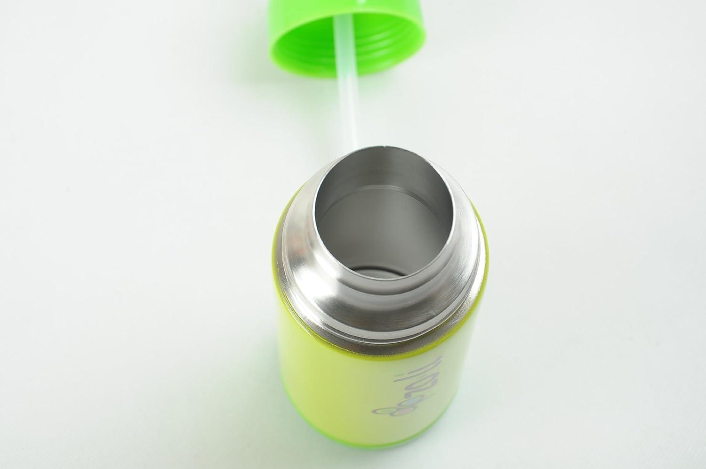 Vert Lite Bouteille Isothermique Avec Paille Et Fonction Isolante Sous Vide Zoli D