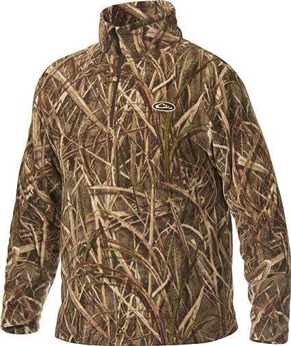 f026b171e1461 Amazon.com: Drake MST Men's Camp Fleece 1/4 Zip Pullover Polyester ...