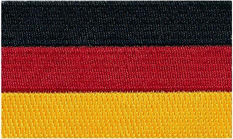 Hegibaer 40 X 25 Mm Deutschland Flagge Berlin Germany Patch Aufnäher Aufbügler 0674 A Auto