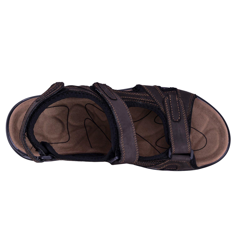WhiFan Homme Cuir de Vachette /Ét/é Chaussure de Randonn/ée pour Sandales Ferm/ées Homme