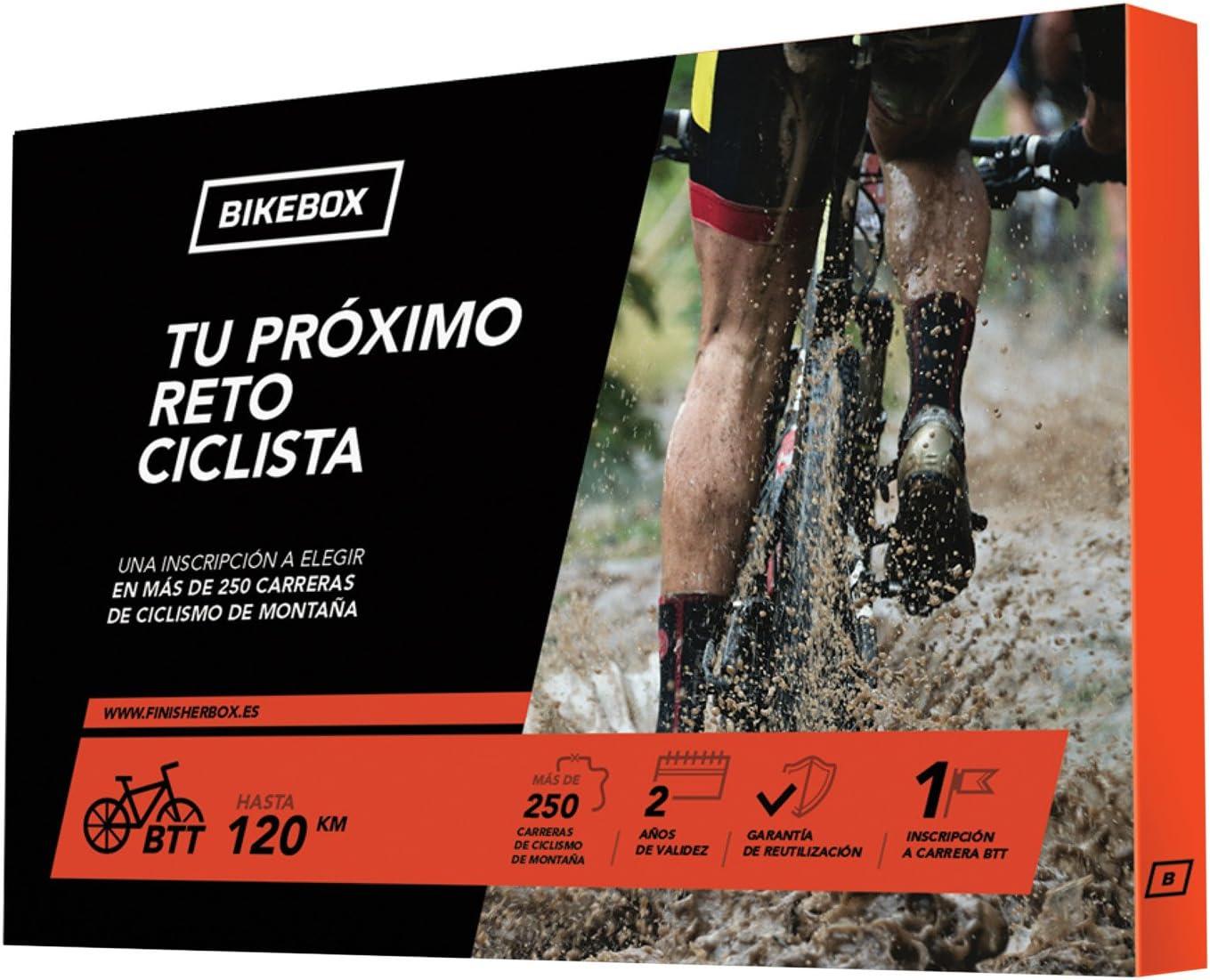 BikeBox - Caja Regalo para Ciclistas - TU PRÓXIMO Reto Ciclista - Regala una Carrera de Ciclismo de montaña - Más de 250