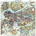 Large Street & Road Map of Louisville, Kentucky KY - Printed poster size wall atlas of your home town