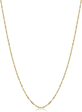 """14k Solid Rose Gold Box Link Necklace Pendant Chain 24/"""" .8mm"""
