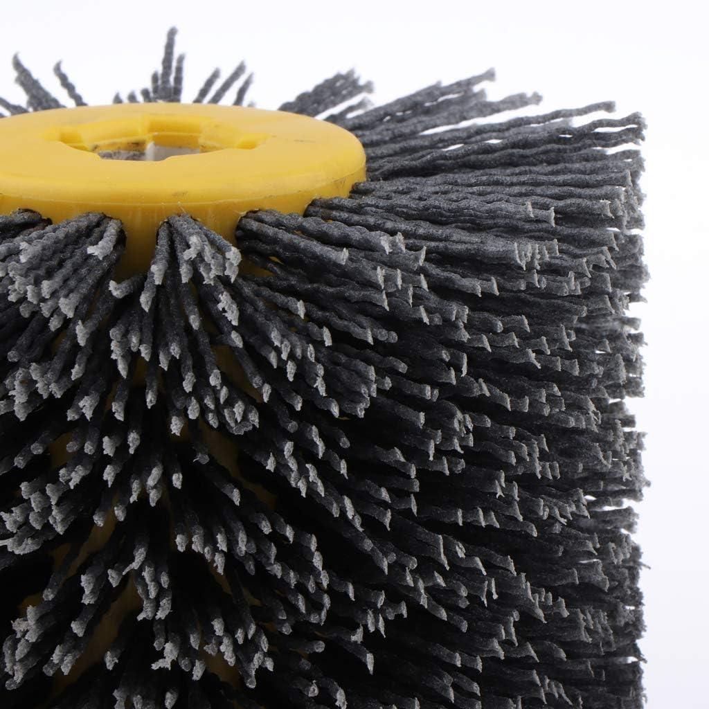 120 k/örnung Tubayia 80-240 K/örnung Nylonb/ürste Walzenb/ürste Drahtb/ürste f/ür Schleifmaschine Satiniermaschine