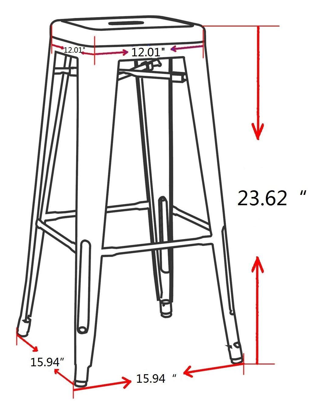 Amazon com: Chintaly Imports 8015 Galvanized Steel Counter