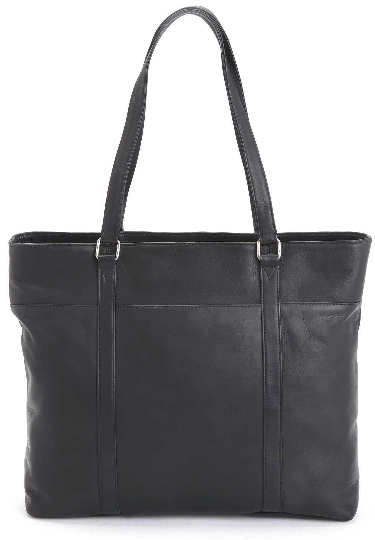 ROYCE Luxury Carryall Women's Tote Bag Handcrafted in Colombian Genuine Leather - Black