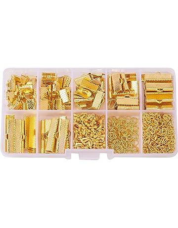 Caja PandaHall con 1630 piezas de joyería, con anillas de hierro, cierres de langosta