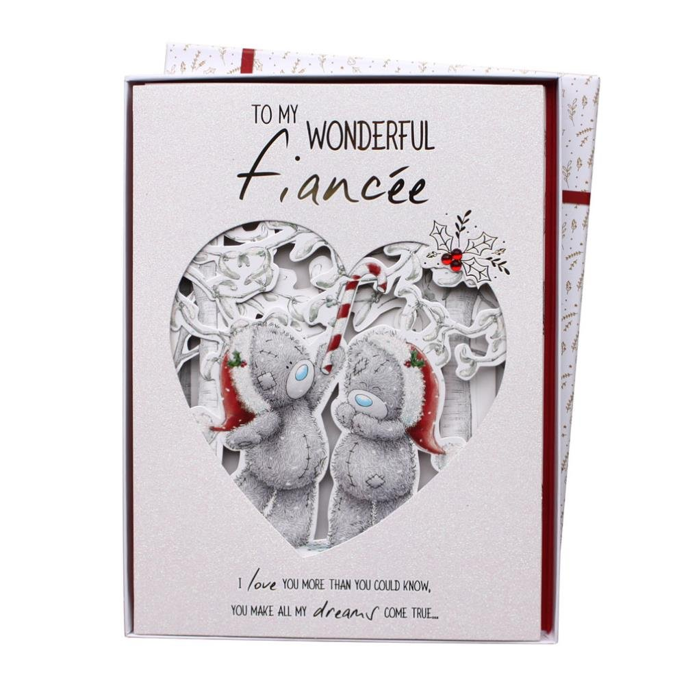 Fiancee Me to You Bear Luxury Boxed Christmas Card Carte Blanche