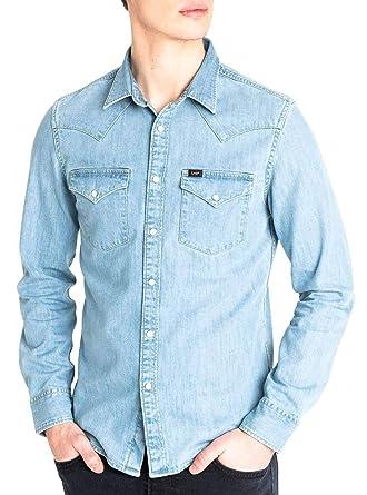 Lee Western Shirt Camisa Manga Larga para Hombre: Amazon.es