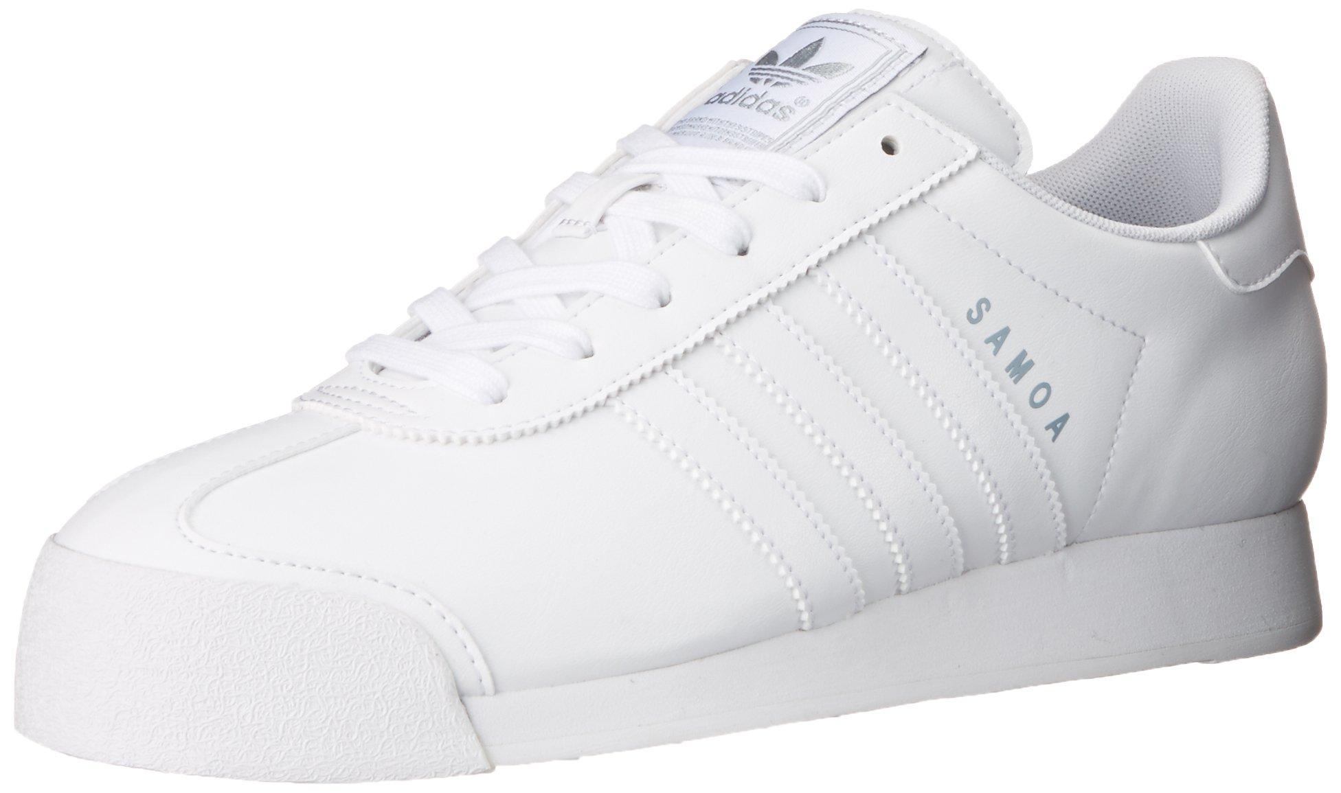 online store 53cf2 d23e5 Galleon - Adidas Originals Women s Samoa W Sneaker, White Silver, 7 M US