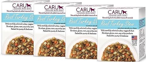 Caru Real Stews Dog Food – 12.5 Oz. 4 Pack Turkey