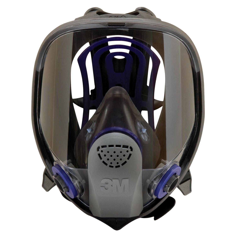 3M 防毒マスク 面体 FF-400J Lサイズ FF-400J L & 吸収缶 デュアルタイプ 有機ガス用 6001 B07BXVBL8V L|有機ガス用 6001 セット L