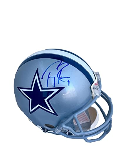 8dac470d714 Image Unavailable. Image not available for. Color: Signed Tony Romo Helmet  - Full Size Authentic Proline - JSA Certified - Autographed ...