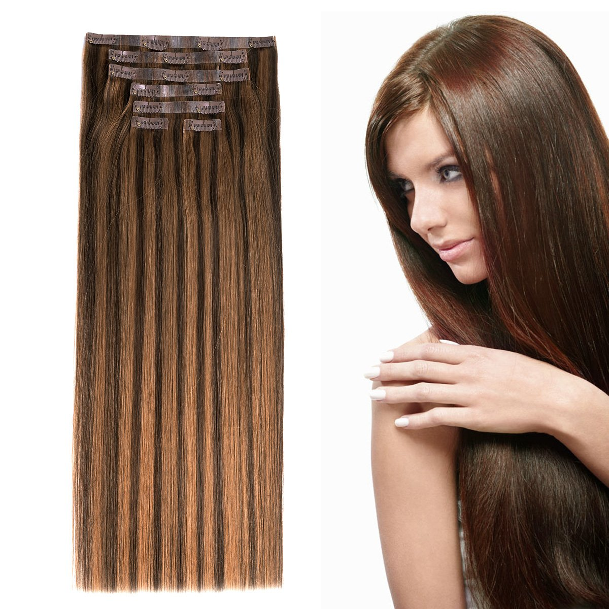 Amazon 20seamless Clip In Hair Extensions With Invisible Thin