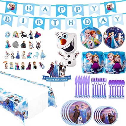 Frozen 2 Birthday Party Supplies Happy Birthday Banner for Frozen 2 Theme Birthday Party Decorations Supplies For Kids