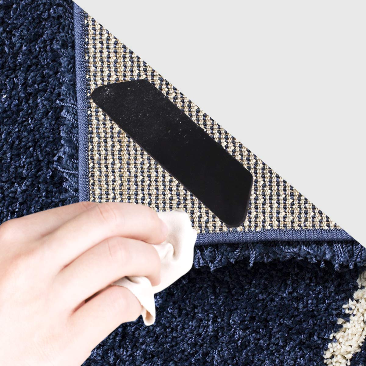 Rug Grippers DINOKA Anti Curling Rug Gripper 16pcs Renewable /& Reusable Carpet Gripper Keeps Your Rug White Rug Pad or Carpet Padding Flat Stops Rug Corner Curling Perfect for Area Rugs