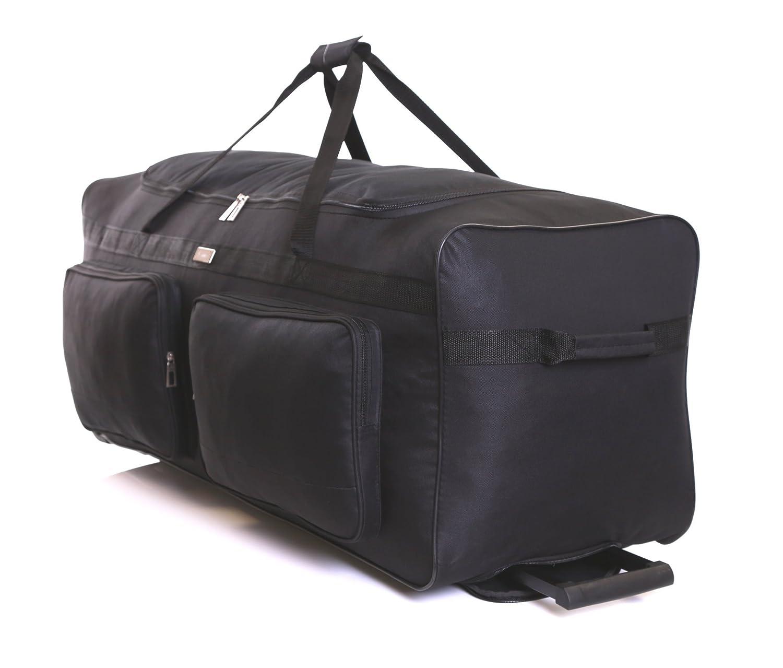 Karabar Extra Large Wheeled Luggage Travel Holdall Bag XXL 34 Inch 2.5 kg 140 litres with 3 Wheels Empress Black