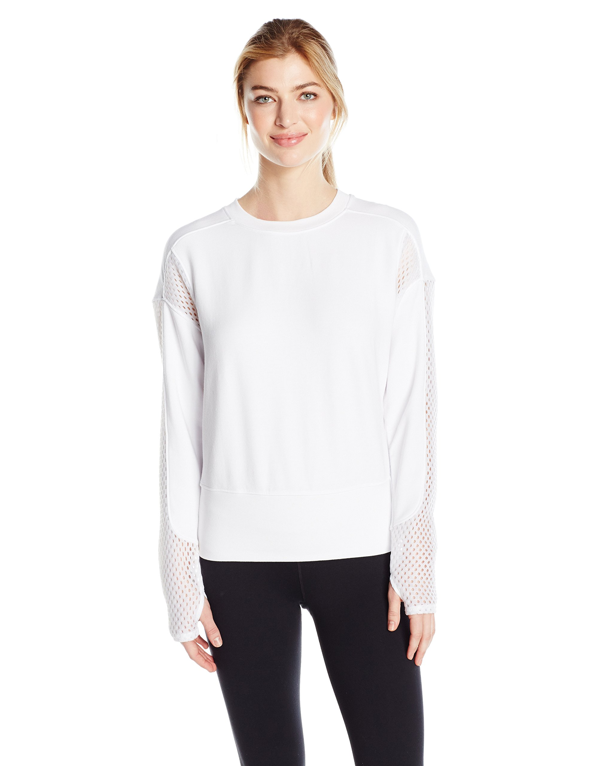 Alo Yoga Women's Formation Long Sleeve Top, White, M