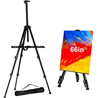 "FUDESY Easel Stand,66""/168cm Aluminum Metal Display Easel Artist Easel Tripod with Portable Bag Adjustable Height from…"