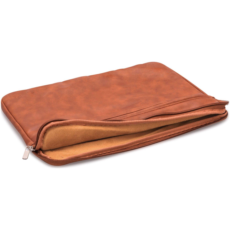 Chemise en cuir PU marron Pochette convient au Microsoft Surface 3 /& 4 Douce protection /& style classique CASEZA Housse pc portable Boston en cuir PU pour MacBook 12 pouces /& MacBook Air 11,6
