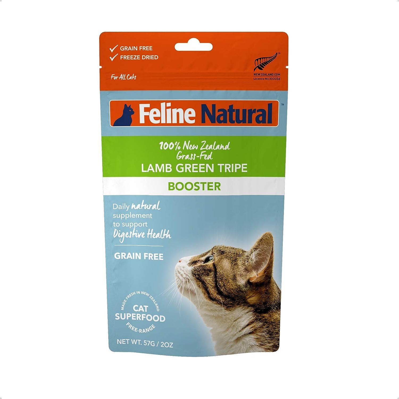 Feline Natural Grain-Free Freeze Dried Cat Food Supplement, Lamb Green Tripe 2oz