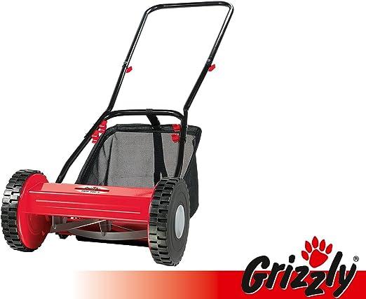 Grizzly Cortacésped manual elicoidal HRM 300 – 3 con cesto de recogida: Amazon.es: Jardín