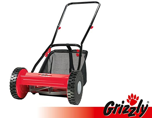 Grizzly Cortacésped manual elicoidal HRM 300 - 3 con cesto ...