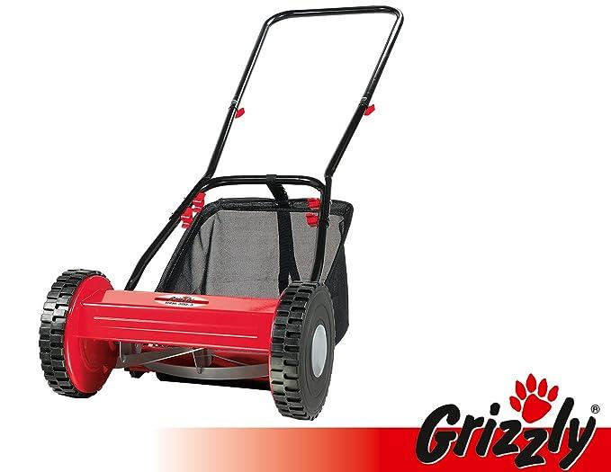 Grizzly Cortacésped manual elicoidal HRM 300 - 3 con cesto de ...