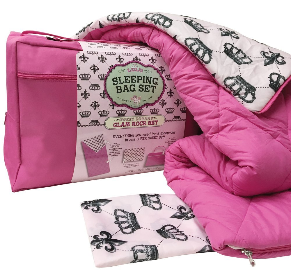 Glam Rock 6113 Sugar Lulu Sweet Dreams Sleeping Bag /& Carry Case