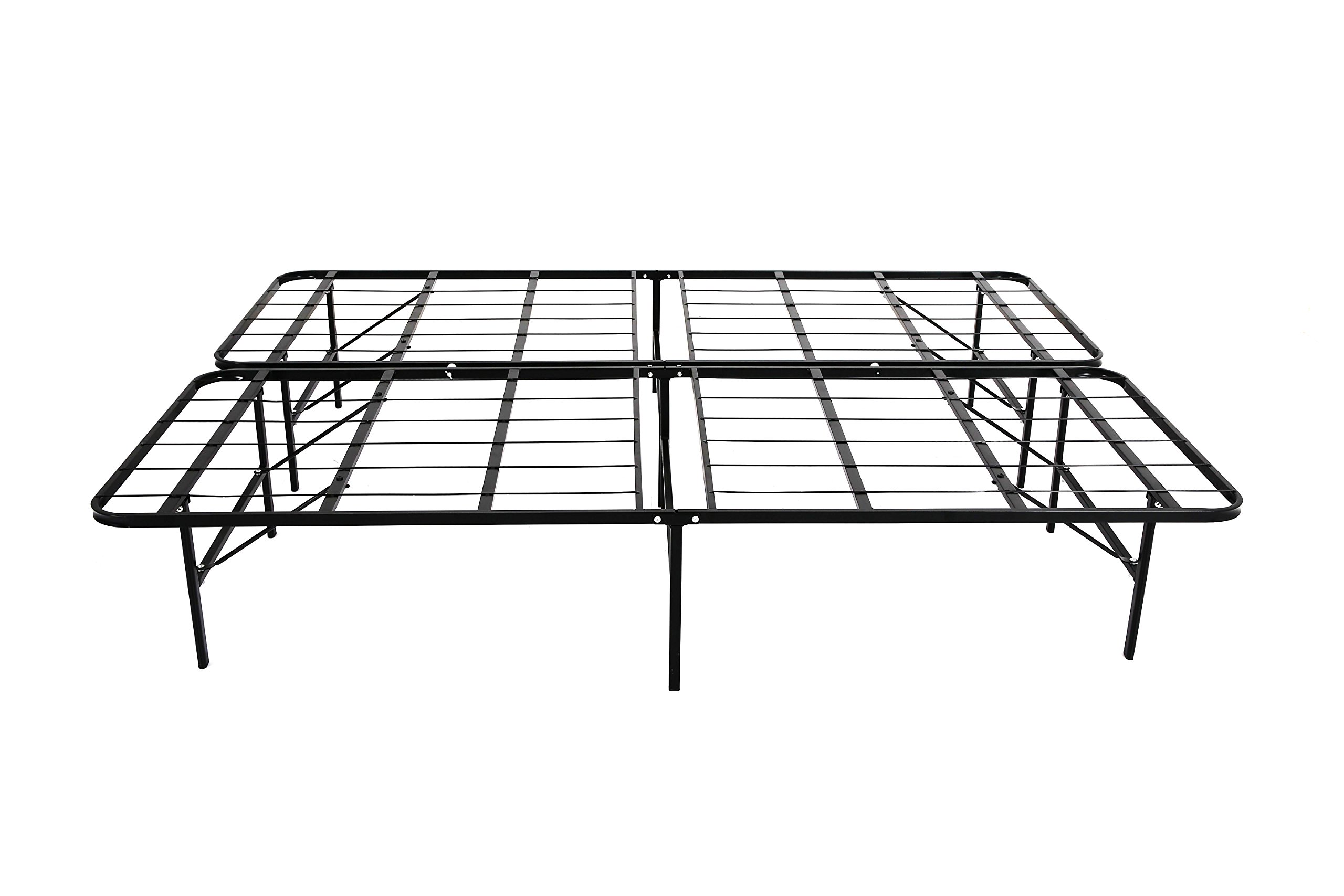 """Knock Off """"The Base"""" Platform Metal Base (Twin), Replaces Foundation, Box Spring, and Bedframe, 1 Minute Set-up, All-in-One Unit. (Also Available in TwinXL, Full, Queen, King, California King)"""