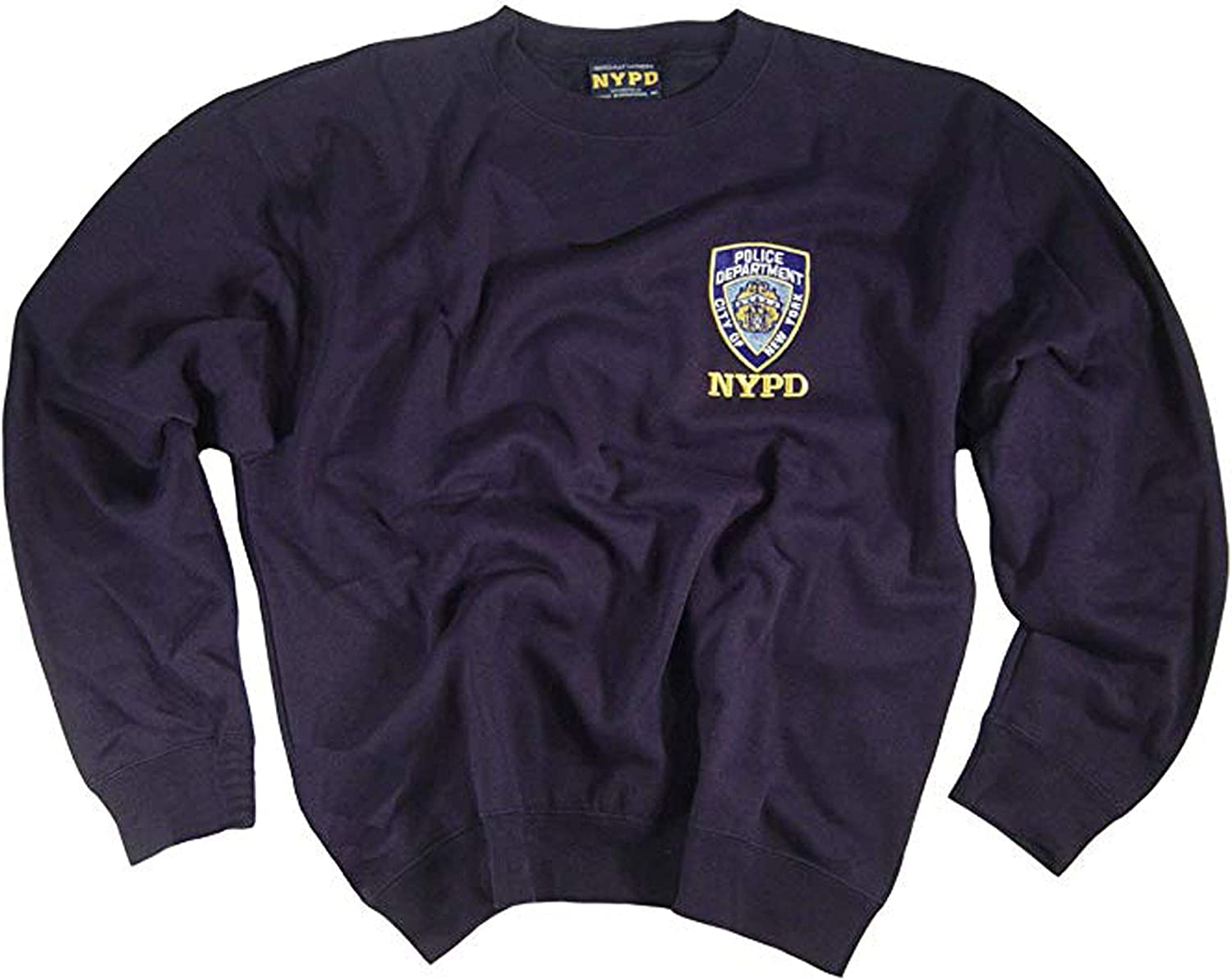 NYPD Sweatshirt Embroidered Patch Logo Uniform Officially Licensed Merchandise