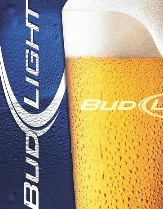 Budweiser Cartel de chapa - Bud Light - Frosty Glass: Amazon ...